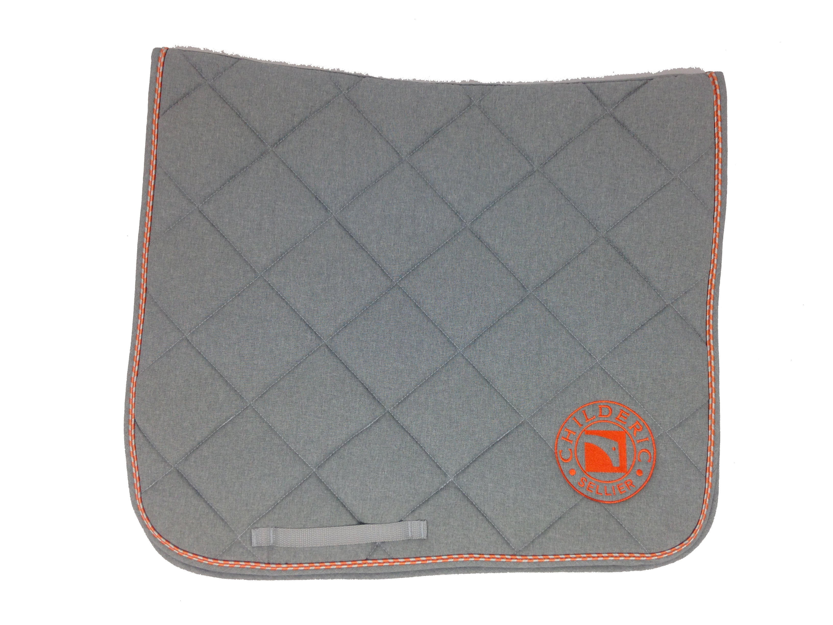childeric tapis dressage gris orange child ric sellier selle sur mesure. Black Bedroom Furniture Sets. Home Design Ideas