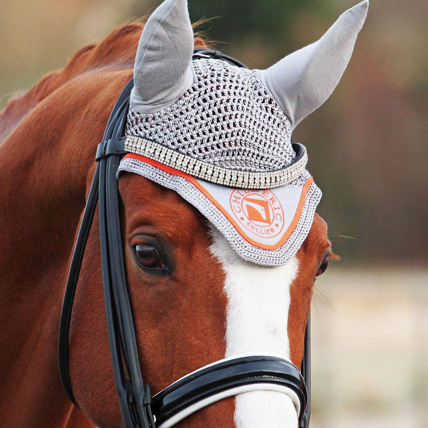 bonnet_childeric_gris_orange_elastique_anti_mouche_tricot